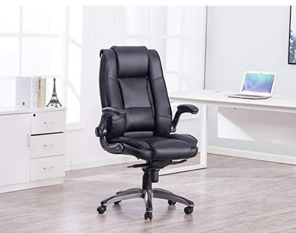 Used Vanbow High Back Memory Foam Leather Office Chair Adjustable