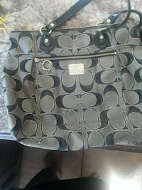 gray and black Coach monogram tote bag Kennewick, 99336