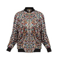 Sequin Jacket - Long Sleeved - Sport/Bomber