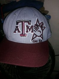 Maroon and grey ATM fitted cap San Antonio, 78244