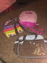 KIDS BACKPACK, LUNCH BAG, 2 DIAPERS BAG & KIDS DOG CARRYING CASE