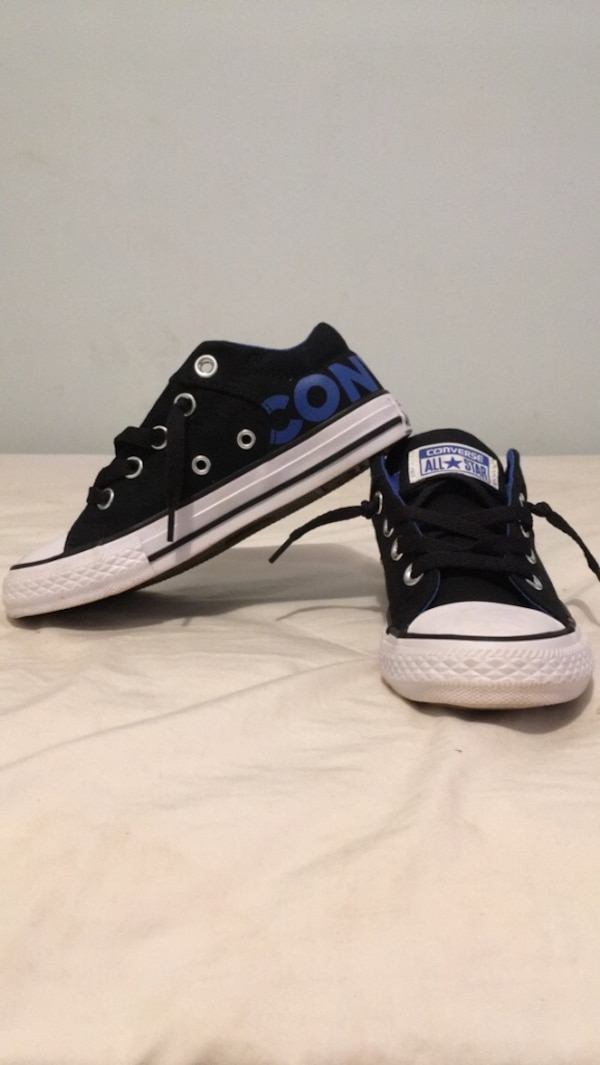 89ecf4ed256 Used Boys size 14 converse. Literally worn 1 time to the store and back. My  son won t wear them because he only wears high tops . for sale in  Tallapoosa - ...