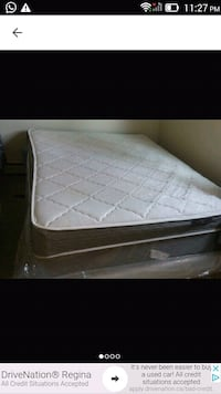 white and gray mattress with box Queen size Regina, S4R 7C5