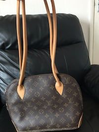 Brown and black louis vuitton leather tote bag null, CT1 1PX