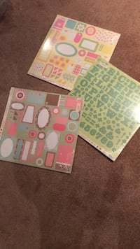 2 packs tags, 1 pack alphabet  stickers (12 sheets in each pack) 507 km