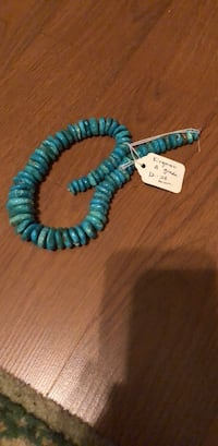 two blue and white beaded bracelets 218 mi