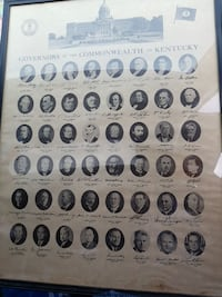 Governors of the Commonwealth of Kentucky framed poster Lexington, 40509