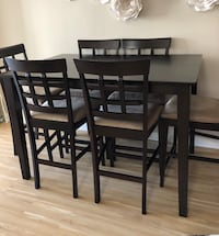 Dining table with 6 chairs.  Vancouver, V6B