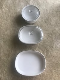 Set of 3 White Corningware dishes Arlington, 22202