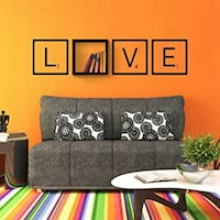 """Love wall shelf with decal - h:13.3"""" w:13.3"""" d: 7.8"""":"""