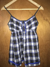 Plaid sleeve less top Burnaby