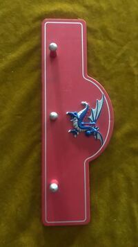 Red, white, and blue wooden dragon wall hook Woodbridge, 22192