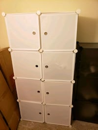 Small Wardrobe Storage for Clothes, 5 cubes, 1 hanging for clothes
