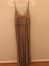Adriana papell / petite long / taupe, pink