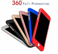 iPhone 8 plus 360° Protective Hard Case w/ Tempere