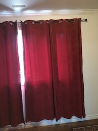 Red suede curtains, 3 Panels  Toronto, M1L 4S5