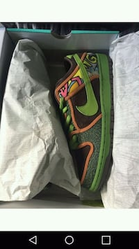green-and-black Nike running shoes with box 775 mi