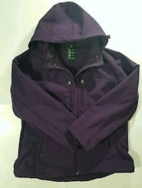 Womens Alpinetek Purple Hooded Midweather Jacket  Edmonton, T5T 3N7