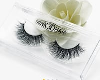 Pair of real mink black strip eyelashes Aldie, 20105