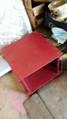 Red side table