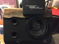 Pioneer subwoofer forwell amfi set