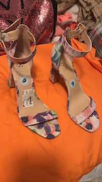 pair of white-and-pink floral pumps Stamford, 06902