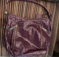 Women's brown leather sling bag