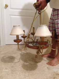 Traditional 6 Lamp Chandelier