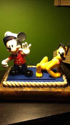 Mickey Mouse and Pluto the Dog figurines
