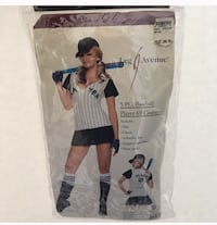 NWT! Adult Sexy Baseball Player Halloween Costume - XS/S