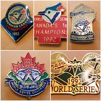 Blue Jays '92 1st World Series & AL Champ Pins Toronto, M9N