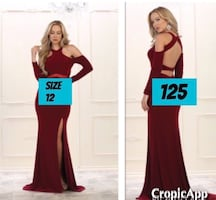 New With Tags Size 12 Formal Gown $125