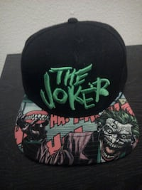 black and multicolored cap with embroidered The Jo Las Vegas, 89131