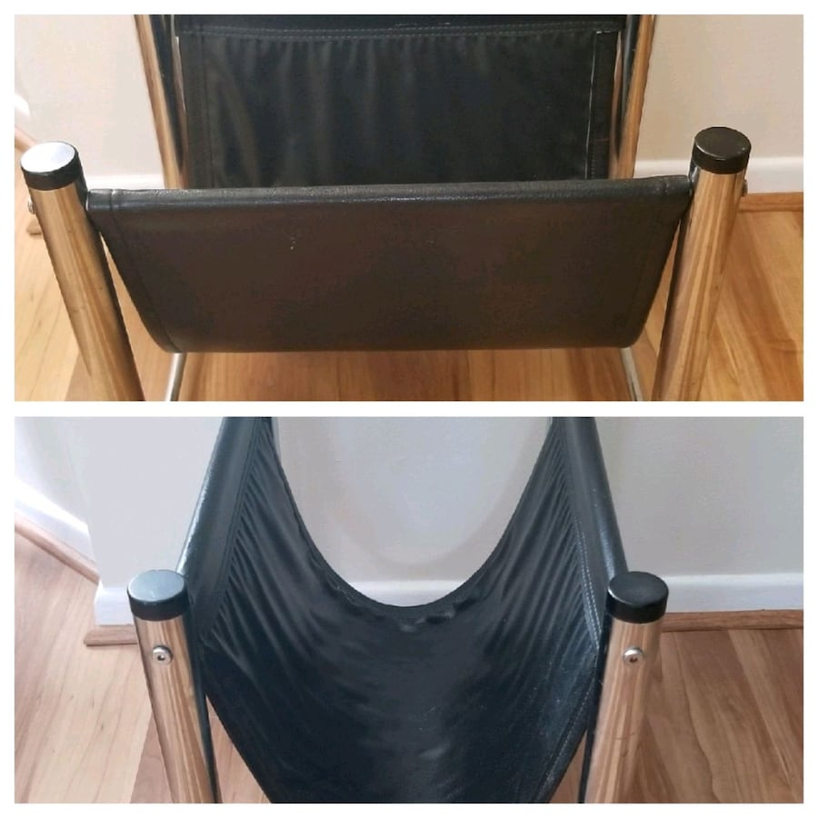 Genuine Black Leather Rack/Stand