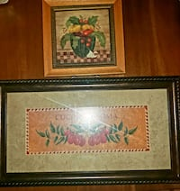 Two Pictures frames for the Kitchen  (Set of 2 for $10) / $7.00 each. Woodbridge, 22192
