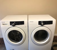 white Samsung front load washer and dryer set Greensboro, 27407
