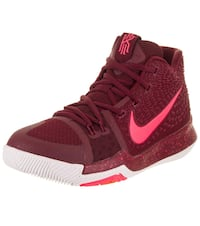 Boys Youth Nike Red & White Basketball Shoes