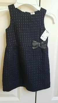 New girls clothes Oshkosh navy dress with gold flecks size 2T or 3T Rockville