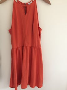women's orange Sleeveless Dress, Size L