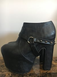 Iron Fist crossed out super platform bootie, size 10