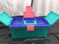 blue, green, and pink plastic toy organizer Maple Ridge, V2X