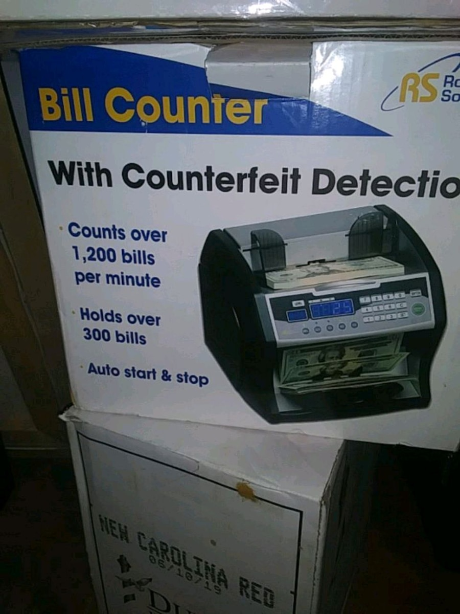 Royal Sovereign RBC-1003BK Bill Counter w// Counterfeit Detection Auto Start//Stop