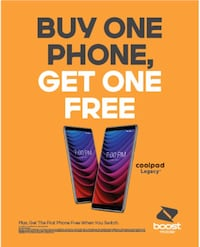 Buy One Coolpad Legacy and Get One FREE