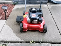 red and black push mower Cicero, 60804
