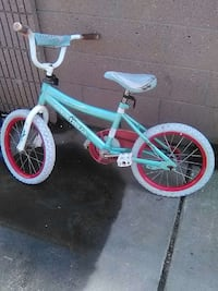 teal and gray bmx bike Paramount, 90723