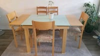 Dinning set (extendable table) with 5 chairs Milton, L9T