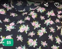 black and pink floral textile Stockton, 95206