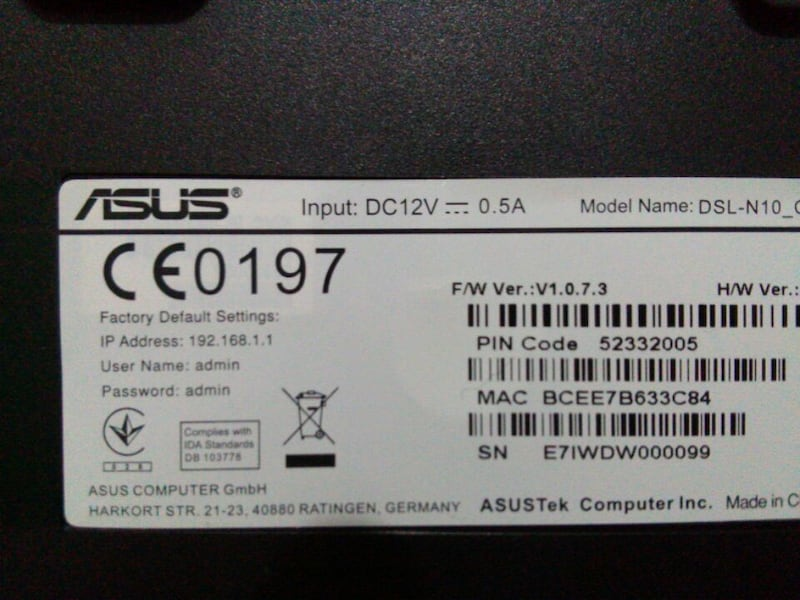 ASUS DSL-N10 WİRELESS ADSL MODEM 4