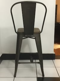 """24""""Counter Height Bar Stool Chair High Back Wood seat (Set of 4) Harvey, 70058"""