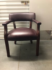 burgandy leather armchair Charlotte, 28210